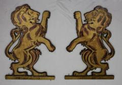 Lions from the Ark formerly used in Kneseth Israel Congregation (Cincinnati, Ohio)