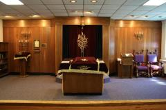 Photographs of Congregation Anshei Sfard's (Louisville, KY) Levitch Chapel at the Dutchman's Lane Location