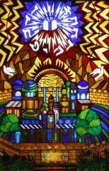 Congregation Anshei Sfard's (Louisville, KY) Stained Glass Windows at of the Dutchman's Lane Location