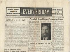 Newspaper with article announcing a conference headed by Rabbi E. Silver, 1940