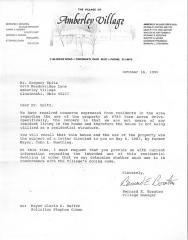 Correspondence between Mr. Gregory Spitz and Amberly Village concerning the use of a Residence