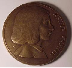 German Medal Commemorating Anne Frank