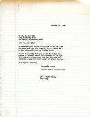 Letter from Kneseth Israel to A.B. Horowitz concerning his resignation from the shul, October 30, 1966