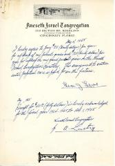 Agreement for annual upkeep of graves from Leon J. Levine, May 4, 1965