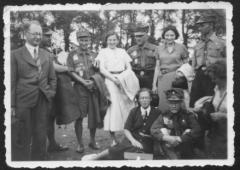 Picture of the World Scout Jamboree in 1936 Showing the Parents of Henry Fenichel, Mortiz Fenichel and Paula Fischler