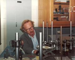Henry Fenichel in his lab