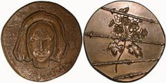Bronze Medal Commemorating Anne Frank