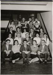 Henry Fenichel with fellow Hillel students at Brooklyn College, NY