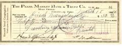 Check from Kneseth Israel Congregation to Hirsch Manischewitz for $50.00, dated March 18, 1931