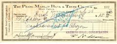 Check from Kneseth Israel Congregation to Hirsch Manischewitz for $15.00, dated July 25, 1930