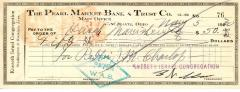 Check from Kneseth Israel Congregation to Hirsch Manischewitz for $50.00, dated May 5, 1930