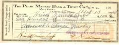 Check from Kneseth Israel Congregation to Hirsch Manischewitz for $100.00, dated August 13, 1930