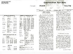 Congregation New Hope Pesach Bulletins, 1970, 1971, 1973, 1974, 1978 & 1980