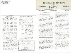 Congregation New Hope Chanukah Bulletins, 1968, 1969 & 1971