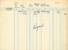 Financial Statement from Kneseth Israel for the member account belonging to Robert Simon, beginning October 1, 1950