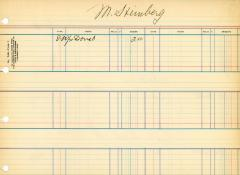 Financial Statement from Kneseth Israel for the member account belonging to M. Steinberg, beginning August 30, 1930