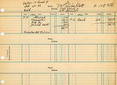 Financial Statement from Kneseth Israel for the member account belonging to M. Silverblatt, beginning September 8, 1940