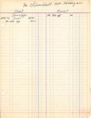 Financial Statement from Kneseth Israel for the member account belonging to M. Silverblatt, 1931-1932