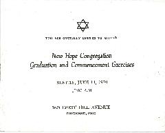 New Hope Congregation - Graduation and Commencement - 1970