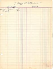 Financial Statement from Kneseth Israel for the member account belonging to B. Tauff, beginning October 1, 1930