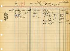 Financial Statement from Kneseth Israel for the member account belonging to Sol Vigran, beginning October 1, 1930