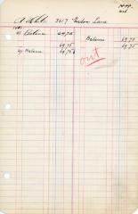 Financial Statement from Kneseth Israel for the member account belonging to A. White, beginning June 1, 1943