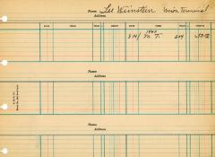 Financial Statement from Kneseth Israel for the member account belonging to Lee Weinstein, beginning August 14, 1940