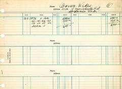 Financial Statement from Kneseth Israel for the member account belonging to Barney Wides, beginning December 6, 1936