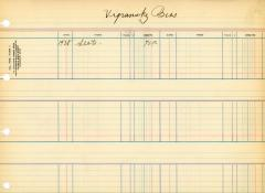 Financial Statement from Kneseth Israel for the member account belonging to Vigransky Bros.'s, beginning in 1928