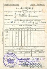 Befcheinigung 1932