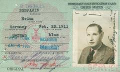 United States Immigrant Identification Card (Benjamin)