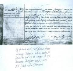 Photo of Hugo Chaim Adler Birth Certificate