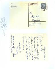Photo of Postcard to Adler from Martin Buber
