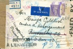 Envelope of Bernhard Goldlust's letter to Paula