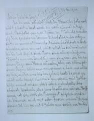 Photo Letter from Elsa to Franz Blumenstein