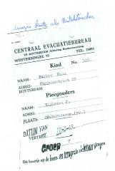 "Photo Document ""Centraal Evacuatiebureau"""