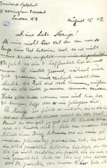 Letter from Bernhard Goldlust to Paula Goldlust