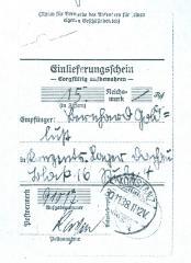 Money Receipt (Bernhard Goldlust)