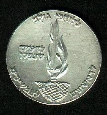 Front (obverse) of Golani Brigade 20th Anniversary Medal