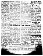 Copy of Article About the Arrival of Jewish Refugees in Palestine