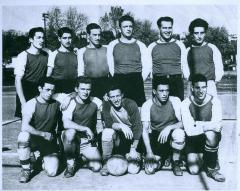 Photo Werner Coppel and Jewish Soccer Club 1951