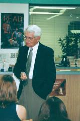 Photo Werner Coppel speaking at Mason High School