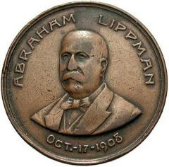 Medal in Honor of Abraham Lippman's 70th Birthday - 1908