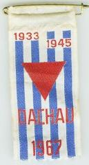 Ribbon from Reunion of Dachau Concentration Camp Survivors - 1967