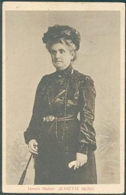 Front of Postcard of Jeanette Herzl, the Mother of Theodor Herzl