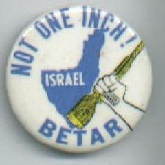 "Betar ""Not One Inch"" Pinabck Button"