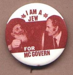 """I am a Jew for McGovern"" Pinback Button"