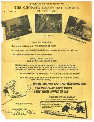 The Chofetz Chaim Day School (Cincinnati Hebrew Day School) Fundraising & Enrollment Advertisement from 1953