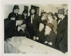 Rabbi Eliezer Silver with Harav Aharon Kotler at Unknown Event