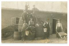 Picture of Men Building a Mikveh in Nitra Slovakia, Pre-WWII